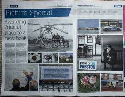 News article describing the Pride of Place - Preston Project and Book Launch